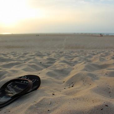 Der Strand in Moliet-et-Maa ist weit und weich