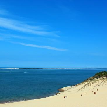 Die Dune du Pilat in Arcachon mit Blick auf den Atlantik