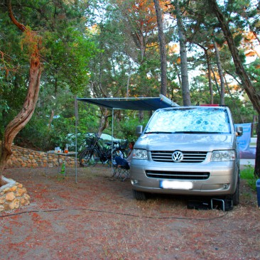 Stellplatz auf dem Campingplatz Le Esperidi