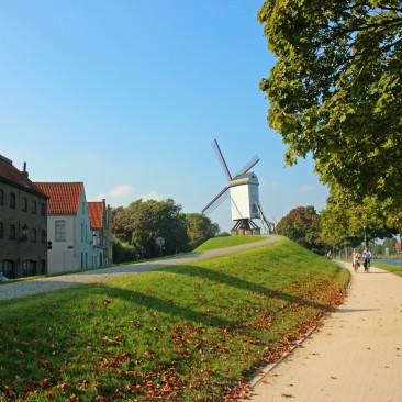 Windmühle am Rande des Stadtzentrums von Brügge