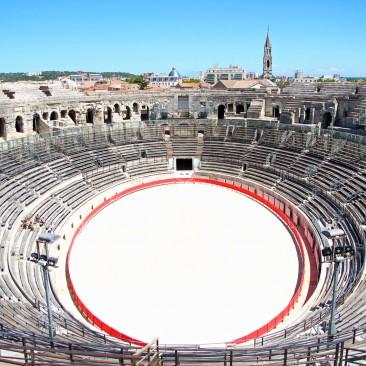 In nur einer Autostunde ist Nîmes zu erreichen, mit der Arena. Audioguide lohnt sich