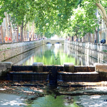Quai de la Fontaine in Nîmes