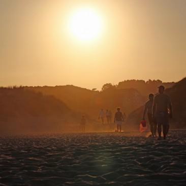 Sonnenuntergang in Noja