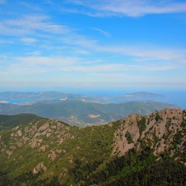 Ausblick vom Monte Capanne auf Elba