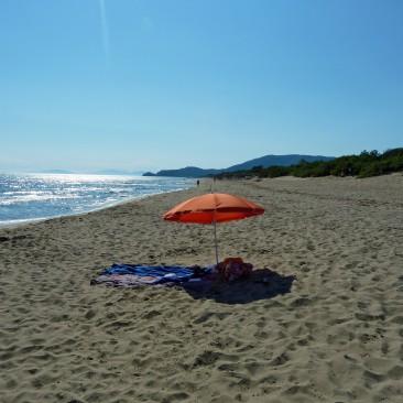 Anfang Juni vor Ferienbeginn am Strand