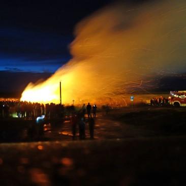 Winter vertreiben mit dem Biikefeuer