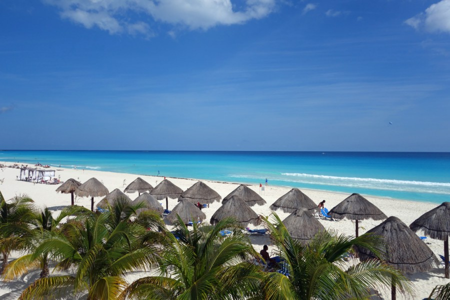 Hotelzimmerblick in Cancún