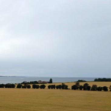 Der Blick von der Fehmarnsundbrücke auf dem Rückweg