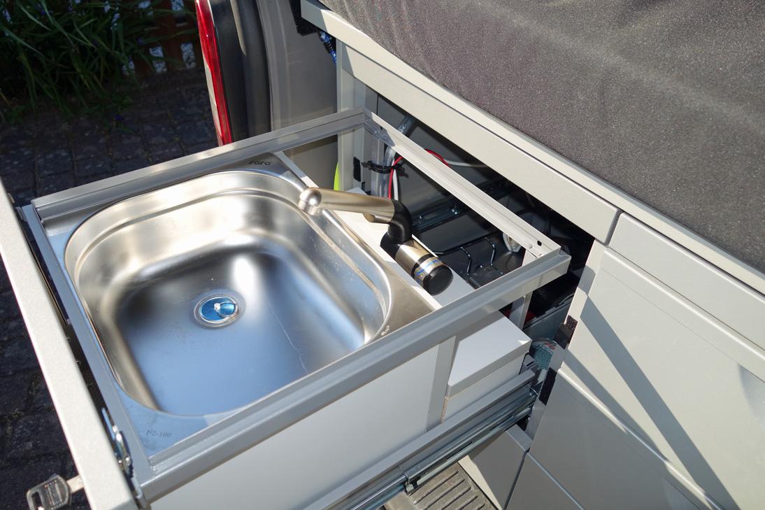 Waschbecken Und Campingdusche Im T5 Bullitouren De
