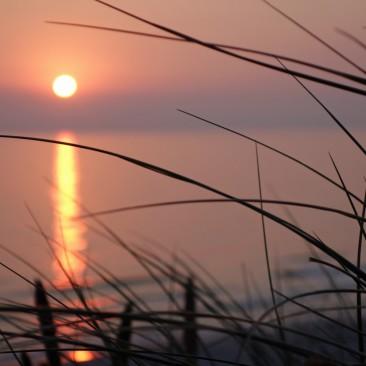 Der beste Platz für den Sonnenuntergang: Die Dünen
