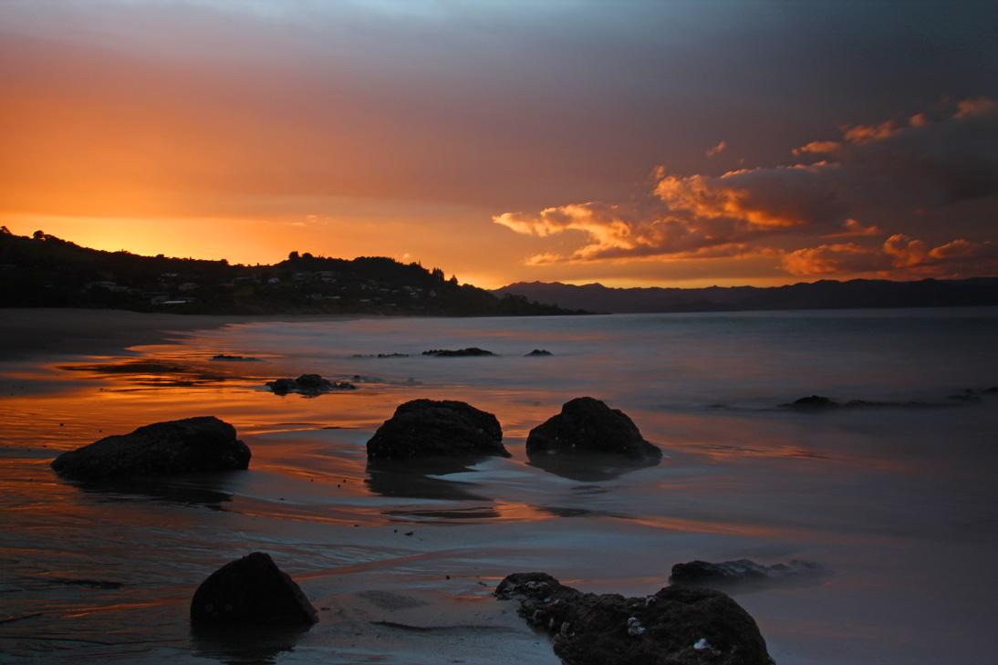 Sonnenuntergang auf der Coromandel-Halbinsel