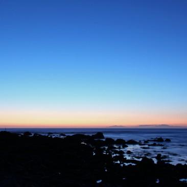 Sonnenuntergang nahe Cape Palliser