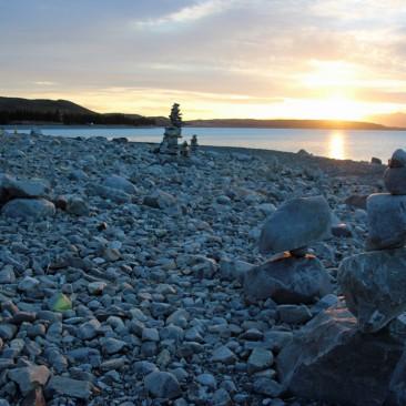 Steinkunst am Lake Pukaki