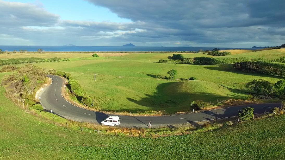 Landschaft nahe der Waipu Caves