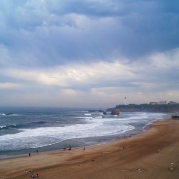 Der Strand von Biarritz