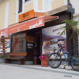 Von hier aus starten die Abenteuer-Touren in Bovec