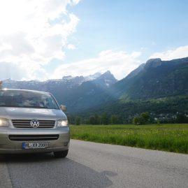 Erster Stop kurz vor dem Camp Toni in Bovec