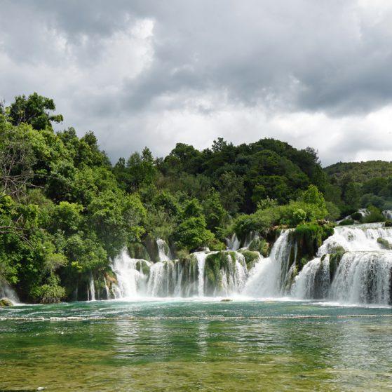 Das Highlight im Krka Nationalpark - der große Wasserfall